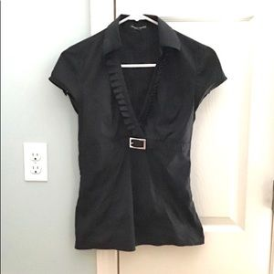 COPY - Express Black Editor Iron Free Blouse XS